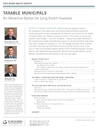 Fixed Income 2015- Taxable municipals: An attractive option for long credit investors